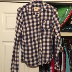 Flannel button up long sleeve